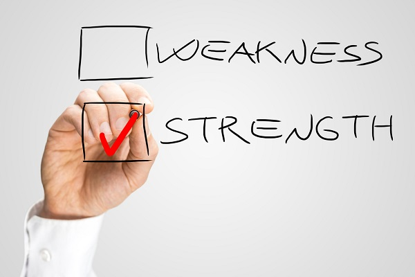 write about your strengths and weaknesses